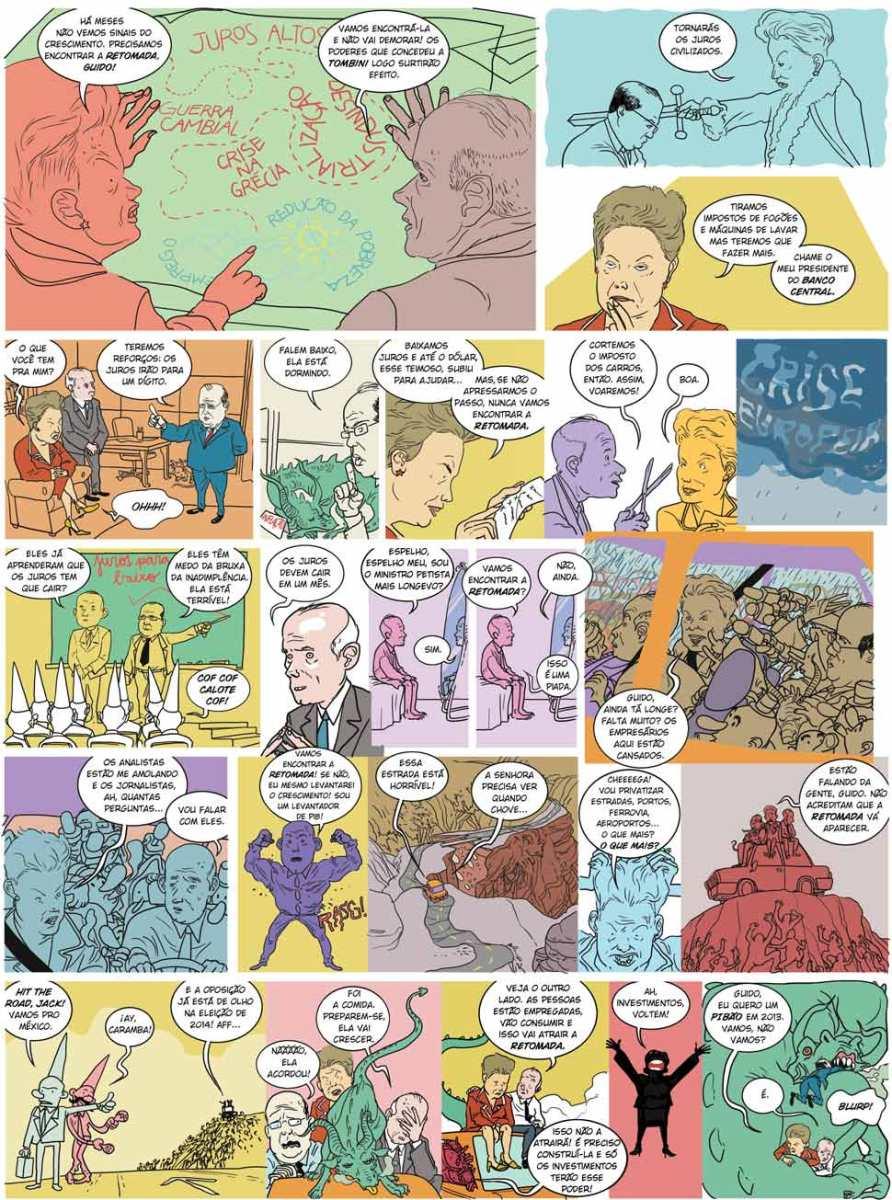 História em Quadrinhos sobre a Economia em 2012