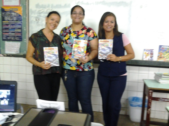 Com as professoras Diana Belo e Andrezza Martins