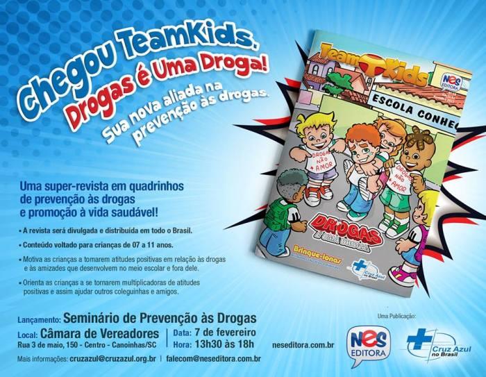 Banner - team kids - drogas é uma droga