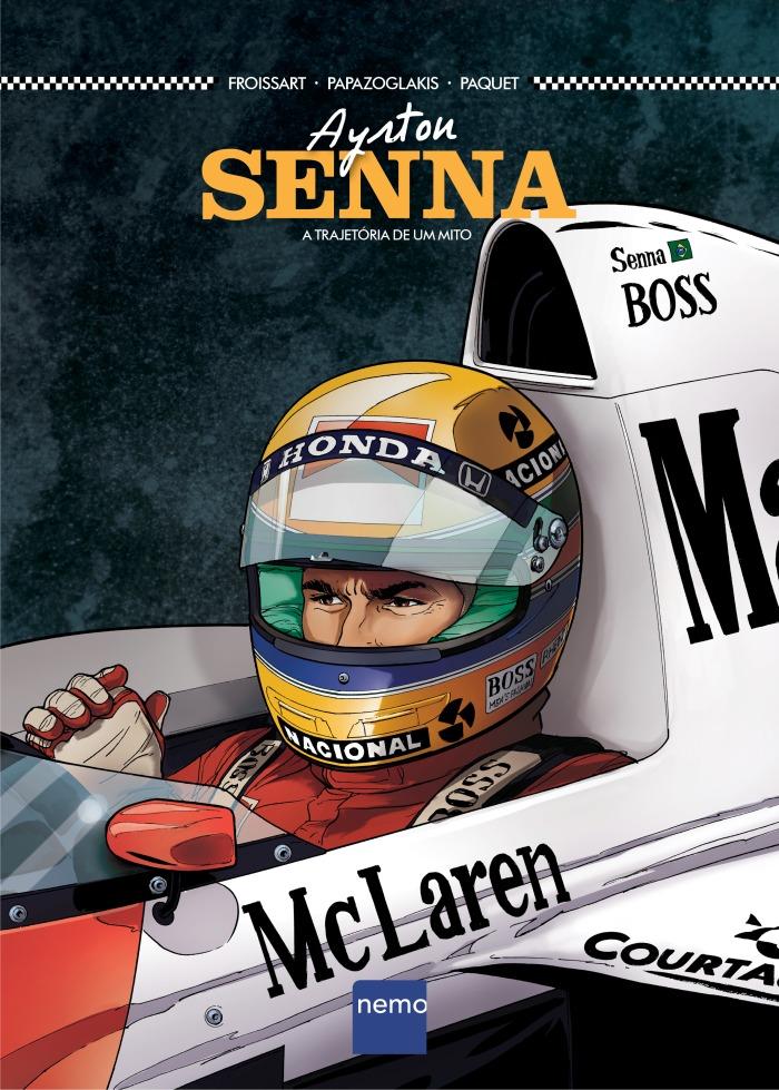 A trajetória de Ayrton Senna é contada em quadrinhos