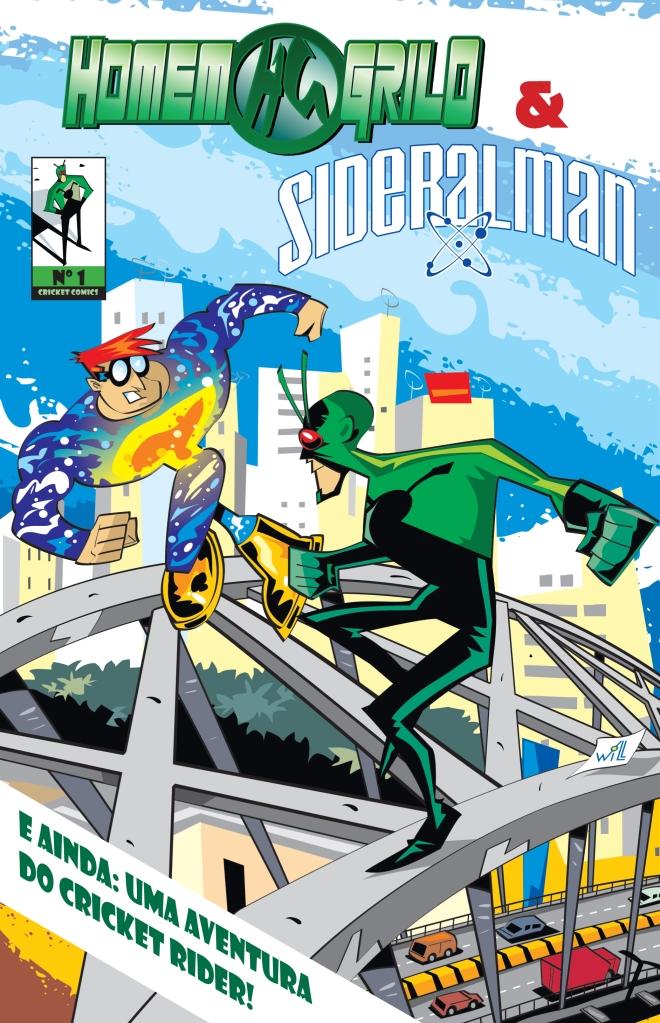 Capa_Homem-Grilo & Sideralman Nº1 na Fest Comics