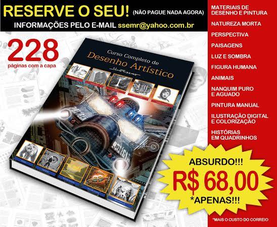 Pré-lançamento do livro Curso Completo de Desenho Artístico