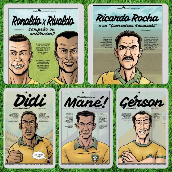O Penta Brasileiro em Quadrinhos