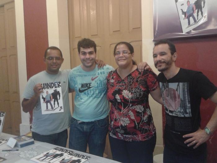 Téo Pinheiro, Ary Santa Cruz, Michelle Ramos e Luciano Félix