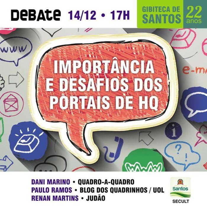 Gibiteca de Santos faz debate sobre a importância dos portais de HQ