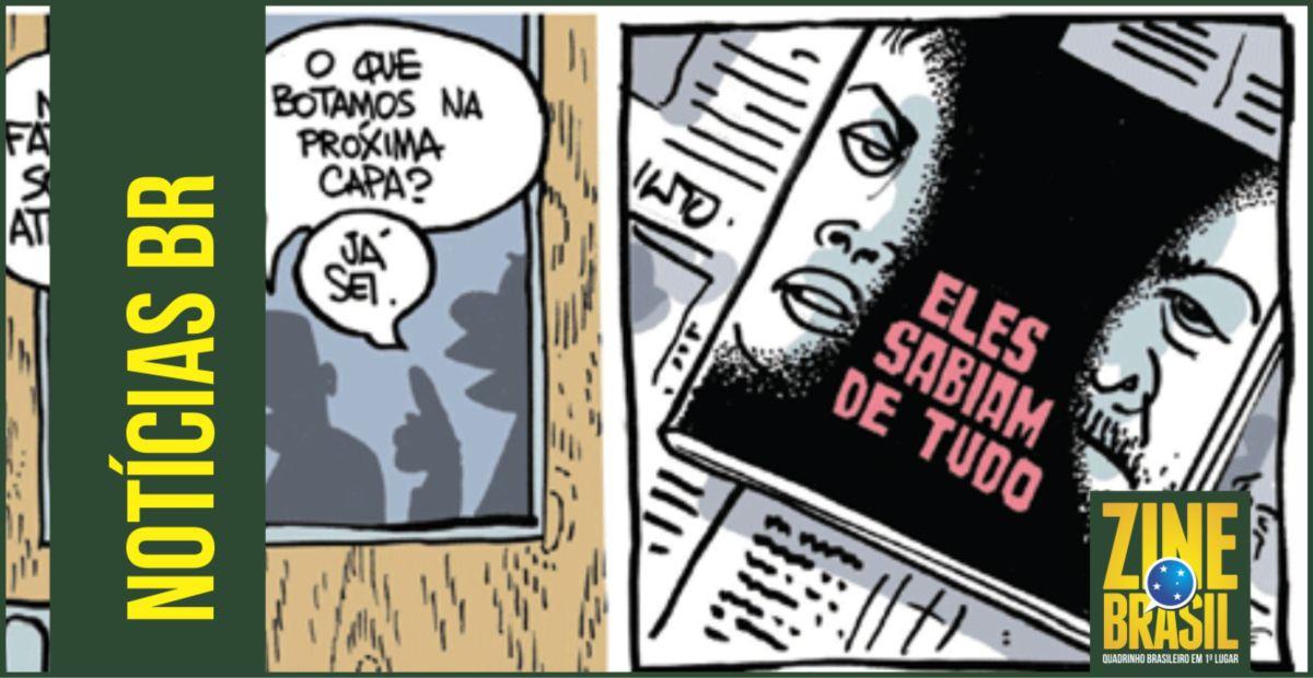 """Cartunista Laerte de """"Zuera"""" com a Revista Veja"""