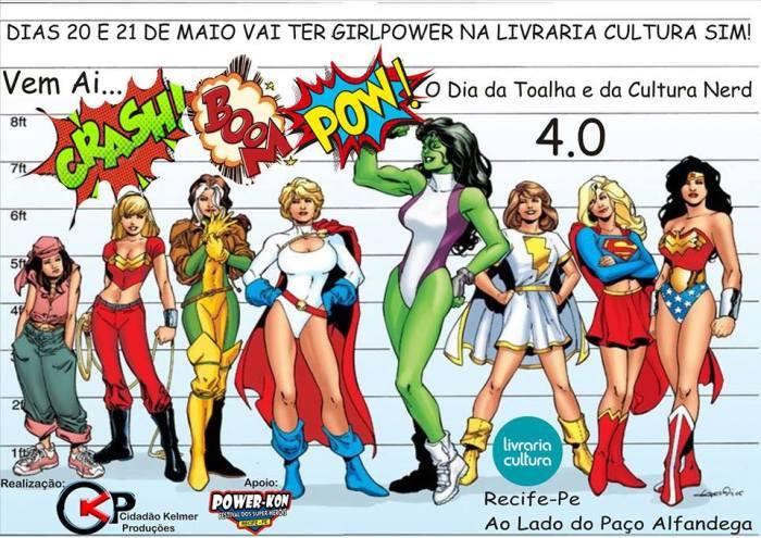 Amanhã tem Dia da Toalha e Dia do Orgulho Nerd 4.0 em Recife, na Cultura