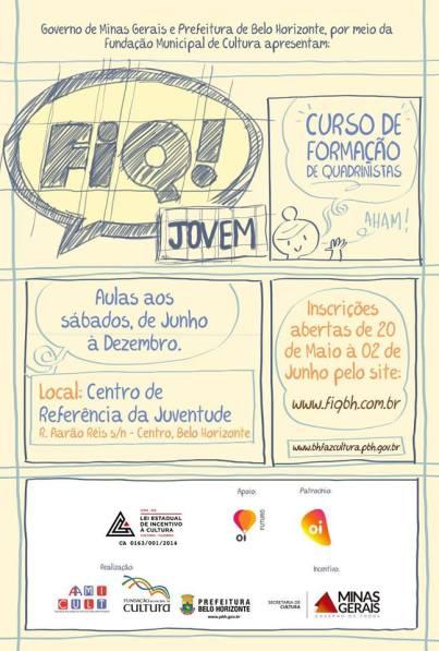 """FIQ lança o """"FIQ Jovem"""", curso gratuito de formação de quadrinistas."""