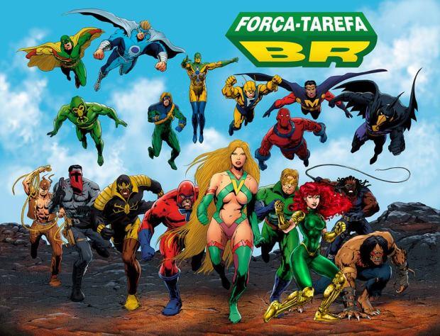 """""""Força-Tarefa BR"""", conheça e apoie o novo crossover de Super Herois Brasileiros"""