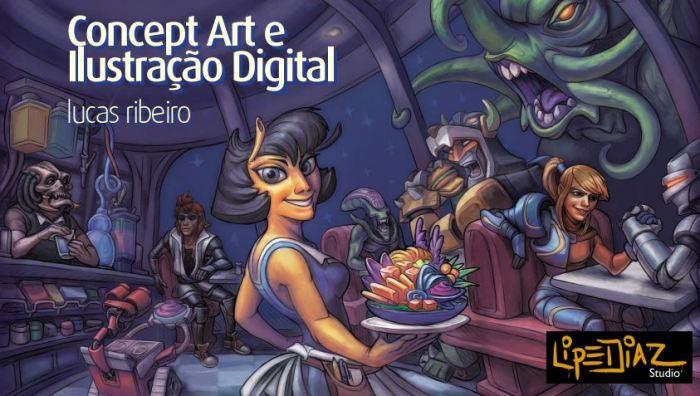E-Book grátis: Concept Art, lustração e pintura digital com Lucas Ribeiro