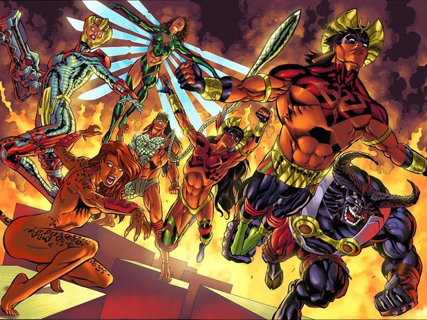 Esquadrão Amazônia, heróis criados por Joe Bennett, esta no catarse.