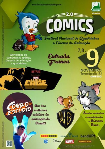 Festival Nacional de Quadrinhos e Cinema de Animação acontece em novembro