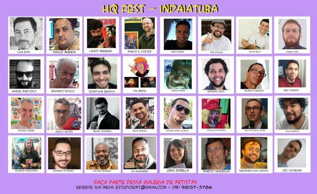 Dezenas de Quadrinistas Brasileiros confirmam presença no HQ FEST - Indaiatuba