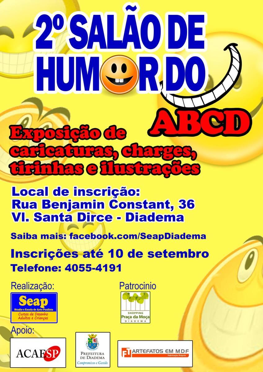 Inscrições para o 2º Salão Internacional de Humor do ABCD seguem até o dia 10/09